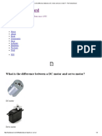 What is the Difference Between a DC Motor and Servo Motor the Handy Board