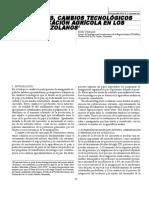 INMIGRANTES, CAMBIOS TECNOLÓGICOS  Y DIVERSIFICACIÓN AGRÍCOLA E EN LOS ANDES VENEZOLANOS