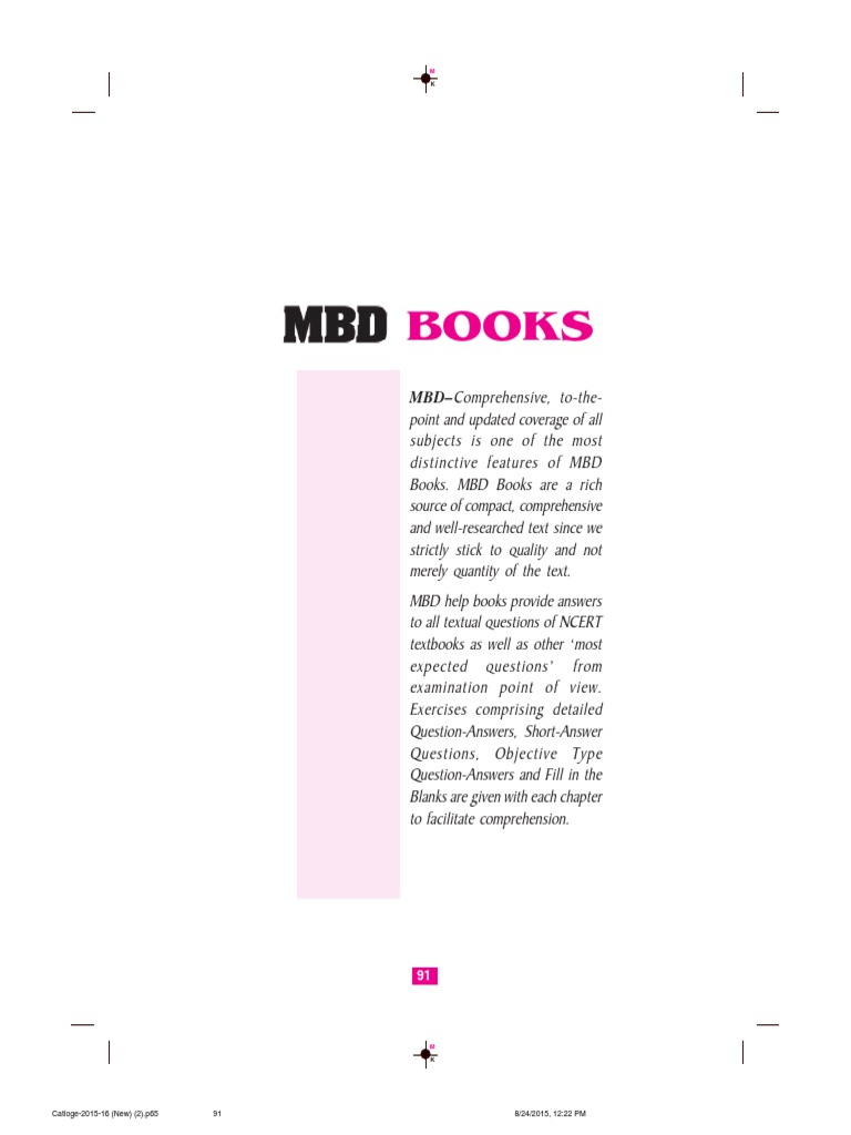 MBD Books pdf | Science And Technology | Economics