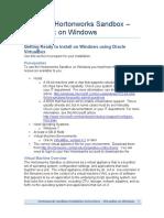 Installing Horton Works Sandbox on Windows Using Vb