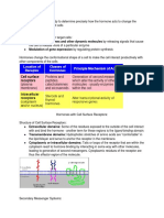 mechanisms of hormone action notes