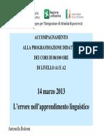 Errore interlingua Bolzoni