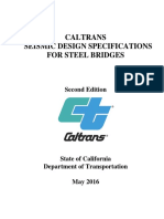 Caltrans Seismic Design Spec Steel Bridges 2nd Ed 2016