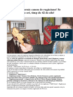 Canonul de Rugăciune Al Parintelui Daniil Horga Din Călugăreni-Adancata-Suceava