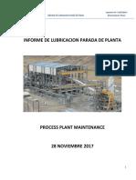 Reporte Lubricacion - Parada de Planta 28 Noviembre 2107