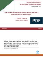 Gas Inadecuadas Especificaciones Desafios Casos Practicos Instalacion Claudia Carrasco1