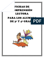 Fichas de Comprensión Lectora 3o y 4o