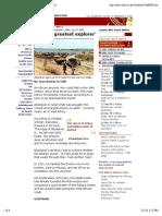 BBC News   AFRICA   Africa's 'greatest explorer'
