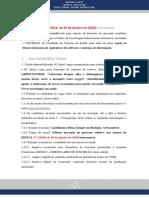 Edital Bolsistas Biologia Arbocontrol