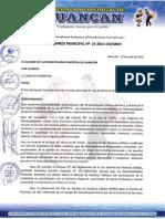 Ordenanza Municipal Nro. 014-2015.CM-MDH - Plan de Manejo de Residuos Solidos - Huancan 2014