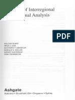 Book-with-Walter Method of Regioanl and Interragional Analysis