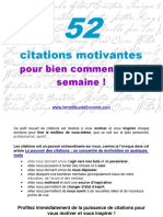 52 Citations Motivantes