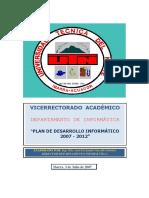 Plan Desarrollo Informatico UTN 2007 2012