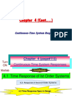 Chapter 4.1 Response Ist Order Systems