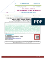 COMPARATIVE STUDY OF THE EFFICIENCY OF BRANDED AND GENERIC DRUGS ON ANAEMIA
