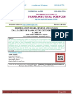 FORMULATION DEVELOPMENT AND INVITRO EVALUATION OF RANOLAZINE EXTENDED RELEASE TABLETS