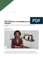 Vila Autódromo, A Comunidade Que Venceu..