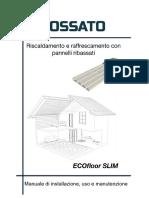 Manuale_riscaldamento Pavimento a Secco_ECOfloor Slim