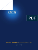 Guidance for Private Candidates (2014-15)