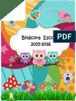 Agenda de Buhos, Ciclo 2015-2016