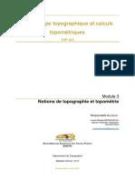 TOP323 Mod 3 Notions de Topographie Et Topométrie Bon