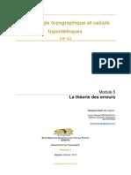 TOP323 Mod 4 La Théorie Des Erreurs Bon