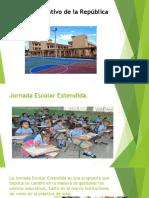 Exposicion Tanda Extendida y Alimentacion Escolar