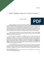 De Pablo, Centro y Periferia Dentro de Una Politica Economica