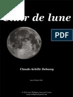 Debussy Claude Clair Lune
