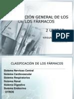 CLASIFICACIÓN GENERAL DE LOS FARMACOS