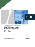 CGP V200R002C10 MML Command Hidden Parameters