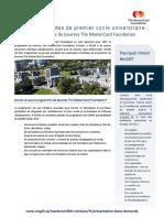 Brochure Du Programme de Bourses