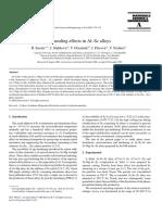 Annealing Effects in Al–Sc Alloys