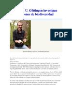 Citro y U. Göttingen Investigan Patrones de Biodiversidad