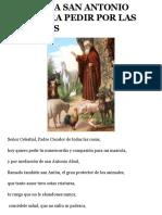 Oracion a San Antonio Abad Para Pedir Por Las Mascotas