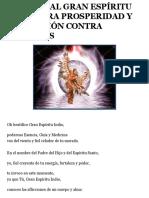 ORACIÓN AL GRAN ESPÍRITU INDIO PARA PROSPERIDAD Y PROTECCIÓN
