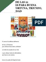 O ORACIÓN DE LAS 21 DIVISIONES PARA BUENA SUERTE, FORTUNA, TRIUNFO.pdf