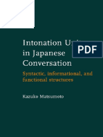 Intonation Units in Japanese Conversation