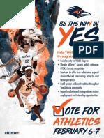 UTSA Athletics Proposal Flyer