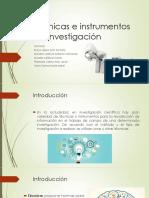Técnicas y Instrumentos de Investigación