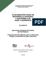Plan Maestro Para Un Desarrollo Integral y Sostenible de Supe y Barranca