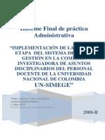 a6855 - Implementación de La Primera Etapa Del Sistema de Gestión en La Comisión Investigadora Asuntos Disciplinarios Personal (Pag 120 - 3.675 Kb)