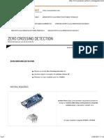 Zero Crossing Detection Arduino