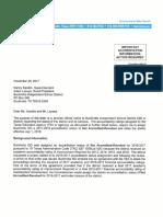 TEA Communication to Buckholts ISD 11-29-17
