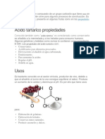 Acido tartarico