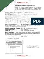 Formatos Infraccion Leve Con Ley 30714