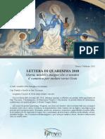 [ITALIANO] Lettera di Quaresima de 2018 – Famiglia Vincenziana