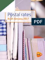 Postal Rates Sheet Jan 2017 PostNL Tcm10 83824