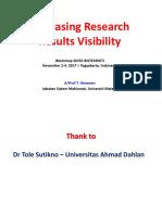 SINTA - Research Visbility