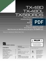 Yamaha TX-480 and TX-480L and TX-580 RDS